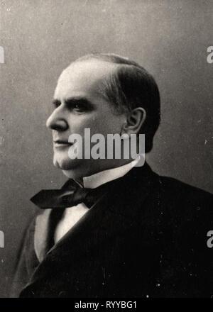Retrato fotográfico de Mac Kinley de colección Félix Potin, de principios del siglo XX. Imagen De Stock