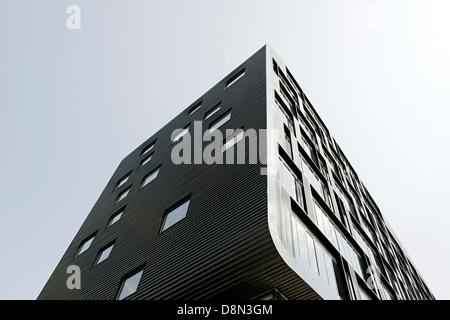 La arquitectura moderna, la isla de Amager, Oerestad, Copenhague, Dinamarca, Europa Imagen De Stock