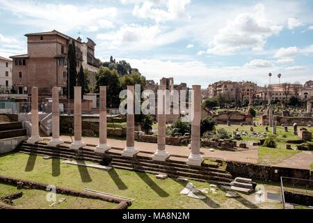 Una vista general desde la Via dei Fori Imperiali, Roma Imagen De Stock