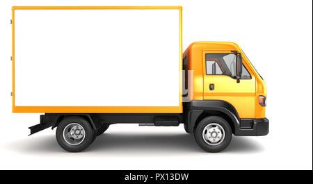 Carretilla cuadro aislado en blanco. Ilustración 3D Imagen De Stock