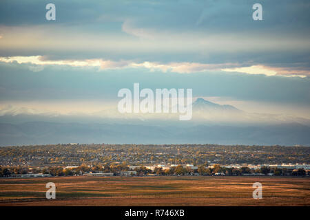 Paisaje, Longs Peak, Paisaje, Montañas Rocosas, Denver, Colorado, EE.UU. Imagen De Stock