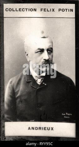 Retrato fotográfico de Andrieux Colección de Félix Potin, de principios del siglo XX. Imagen De Stock