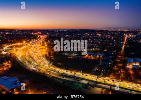 Vista aérea de Staten Island Expressway Imagen De Stock