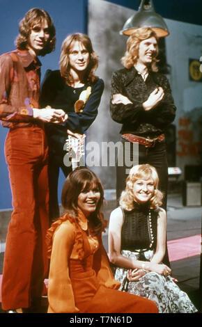 Nuevo asilo inglés grupo pop/folk en 1972 Imagen De Stock