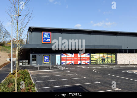 Supermercado ALDI Bakewell en el Peak District de Derbyshire, Reino Unido. Imagen De Stock