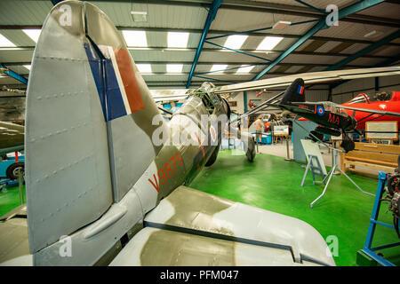 Maqueta avión para una película Imagen De Stock