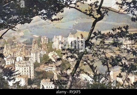 Edificios en Karlovy Vary 1912, Región de Karlovy Vary, Karlsbad, Westend, República Checa Imagen De Stock