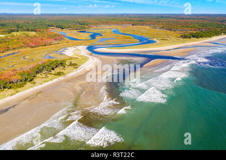 Vista aérea del estuario del río poco Imagen De Stock