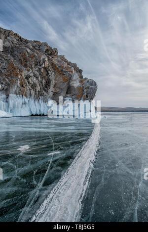 El lago Baikal, en Siberia, Rusia Imagen De Stock