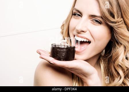 Modelo de torta para celebrar la boca Imagen De Stock
