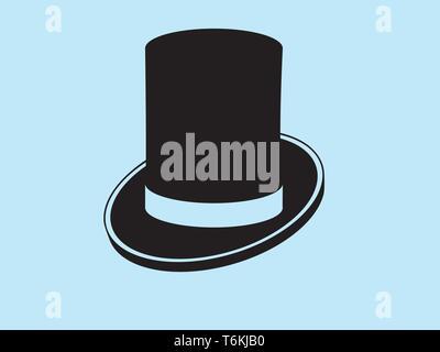 Clásico y elegante sombrero gentlemans icono vectorial Imagen De Stock