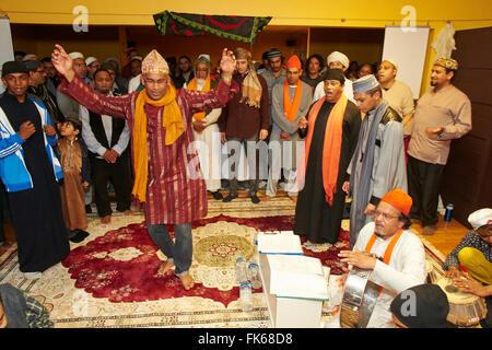 Dikhr Sufi en París, Francia, Europa Imagen De Stock