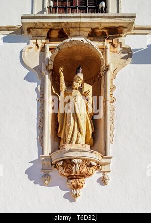 La iglesia del Carmo, vista detallada, Largo do Carmo, Faro, Algarve, Portugal Imagen De Stock