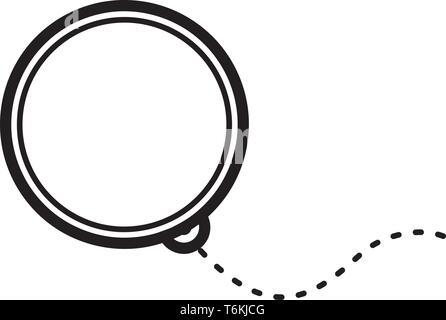 Ojo de vidrio estilo vintage monocle icono vectorial Imagen De Stock