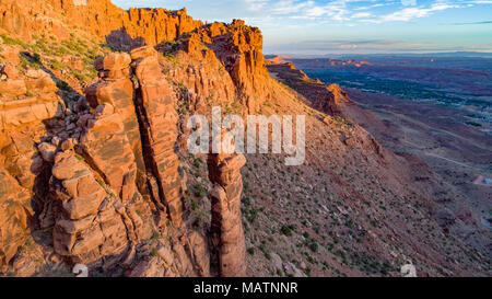 Ángel Roca y Moab Valley, detrás de las rocas, Utah Wilderness propuesto Imagen De Stock