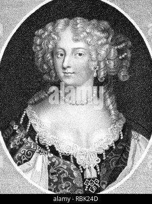 FRANCES TALBOT, Conde de Tyrconnell (c 1647-1730) conocida como La Belle Jennings, ella era un miembro prominente de la corte restauración británica Imagen De Stock