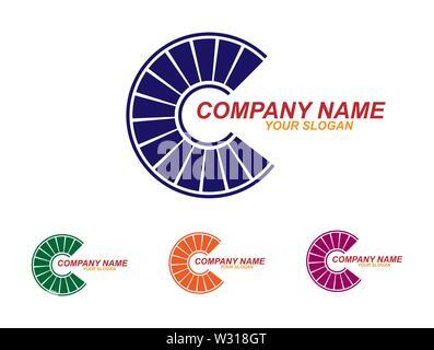 Plantilla para el logotipo de la empresa. Diseño simple plana Imagen De Stock