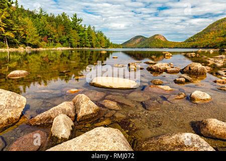 Jordania estanque en el Parque Nacional de Acadia, Maine Imagen De Stock