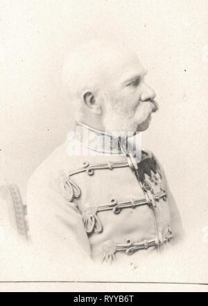 Retrato fotográfico de Franois Joseph Ier Empereur Dautriche Hongrie desde la colección Félix Potin, de principios del siglo XX. Imagen De Stock
