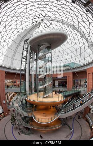 La cúpula de la plaza Victoria en Belfast, Irlanda del Norte. Imagen De Stock