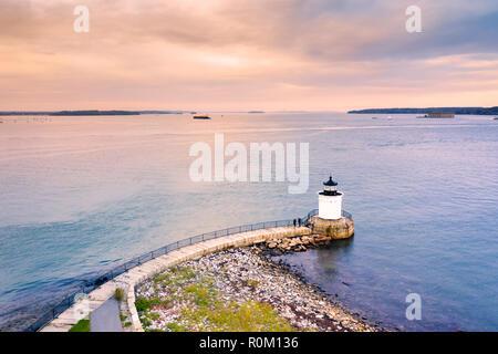 Portland rompeolas Luz en Maine Imagen De Stock