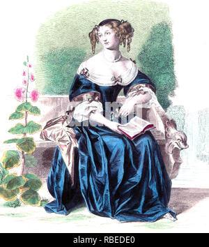 MADAME de La Fayette (1634-1693) novelista francés Imagen De Stock