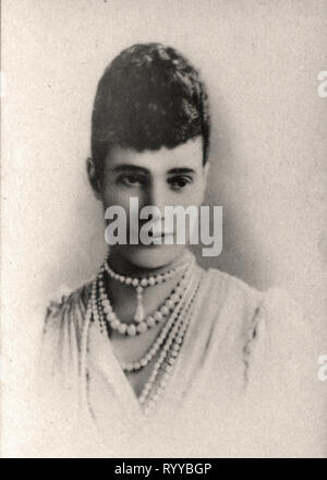 Retrato fotográfico de Maria Feodorowna Impratrice De Russie de colección Félix Potin, de principios del siglo XX. Imagen De Stock