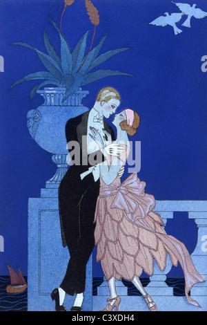 Qui!, de Falbalas & Fanfreluches, por George Barbier. París, Francia, 1925 Imagen De Stock