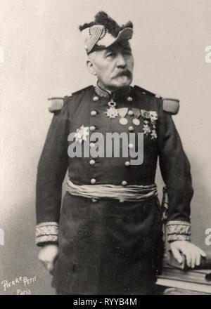 Retrato fotográfico de Duchesne desde la colección Félix Potin, de principios del siglo XX. Imagen De Stock