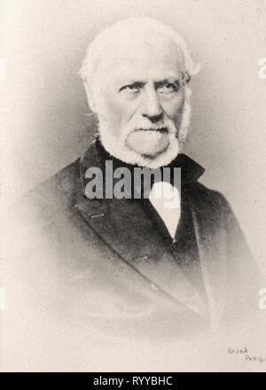 Retrato fotográfico de Martin desde la colección Félix Potin, de principios del siglo XX. Imagen De Stock