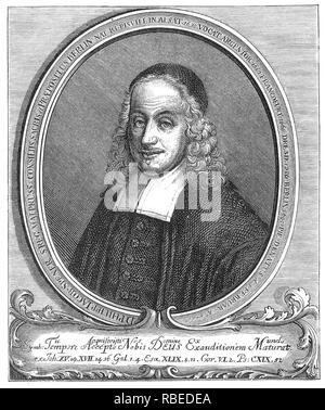 PHILIPP SPENER (1635-1705), teólogo Luterano Alemán Imagen De Stock