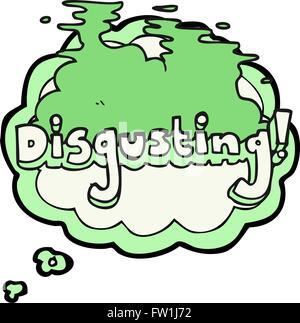 Repugnante pensamiento dibujados a mano alzada de dibujos animados de burbujas Imagen De Stock