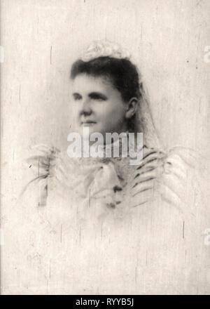 Retrato fotográfico de Emma Reine Rgente des Pays Bas desde la colección Félix Potin, de principios del siglo XX. Imagen De Stock