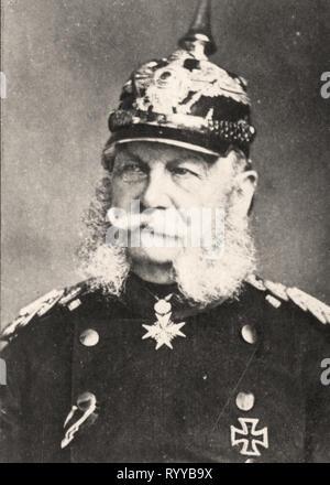 Retrato fotográfico de Guillaume Ier Empereur Dallemagne Colección de Félix Potin, de principios del siglo XX. Imagen De Stock