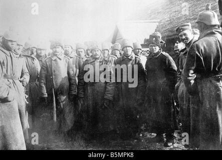 9 1916 3 18 A1 14 Batalla de Postawy 1916 Russ prisioneros de guerra mundial 1 Frente Oriental la derrota de las Imagen De Stock