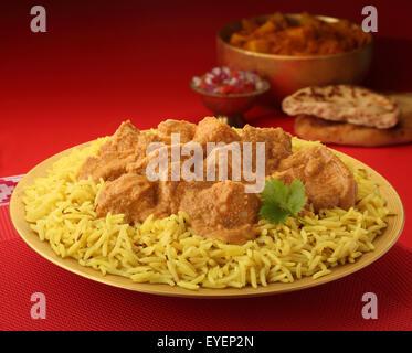 Carne de pollo Korma curry indio comida Imagen De Stock