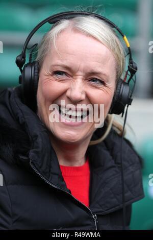 Sonja Mclughlan Bbc Ra Presenter England V Australia, Autumn Internationals Twickenham, Londres, Inglaterra, 24 de noviembre de 2018 Créditos: Allstar Picture Library/Alamy Live News Imagen De Stock