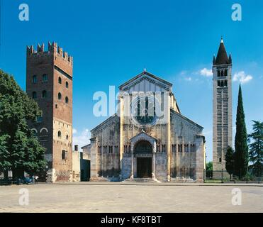 Veneto Verona iglesia de San Zeno Maggiore Imagen De Stock