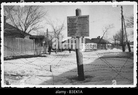 9 1941 10 24 A1 2 E Ghetto en Charkov Foto 1941 42 campaña rusa de la Segunda Guerra Mundial ocupación Imagen De Stock