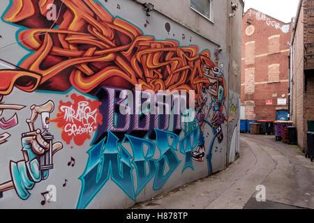 Graffiti fuera de Gloucester Road, St Andrew's Bristol Imagen De Stock