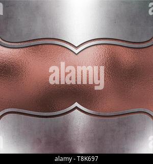 Resumen Antecedentes metálico con textura de oro rosa Imagen De Stock
