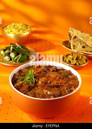 BRINJAL curry indio Imagen De Stock