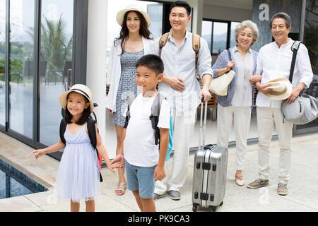 Familia Feliz de vacaciones Imagen De Stock