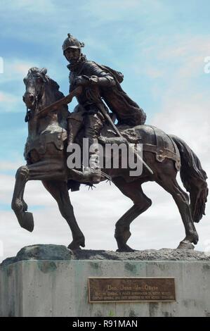 Don Juan de Oñate Memorial en Nuevo México, que ha colonizado por España. Fotografía Digital. Imagen De Stock