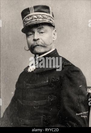 Retrato fotográfico de Zurlinden Colección de Félix Potin, de principios del siglo XX. Imagen De Stock