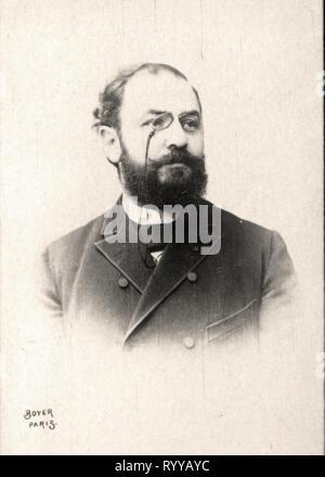 Retrato fotográfico de burgueses colección de Félix Potin, de principios del siglo XX. Imagen De Stock