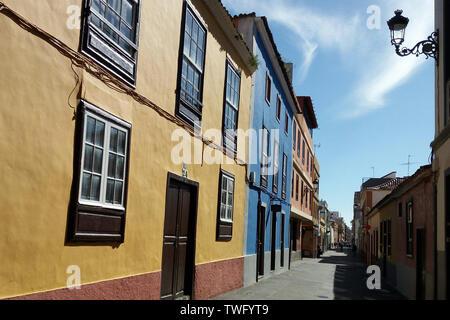 Casas tradicionales, Tenerife, Islas Canarias, España Imagen De Stock