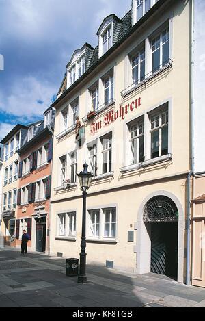 El valle de Rin ALEMANIA Bonn beethoven's Birthplace Imagen De Stock