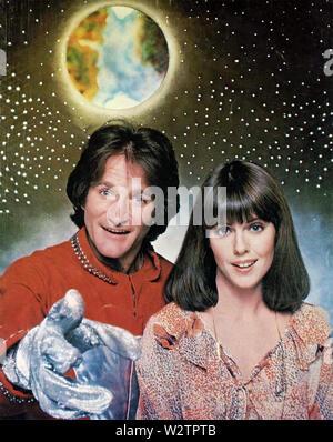 MORK Y MINDY Paramount Television sitcom 1978-1982 con Pam Dawber y Robin Williams Imagen De Stock