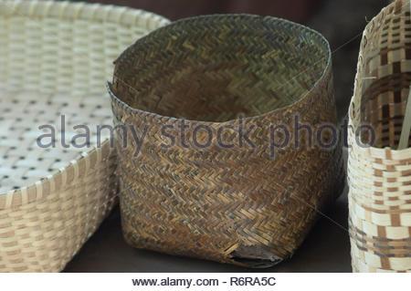 Cherokee cestas artesanales, Qualla Reserva, Carolina del Norte. Fotografía Digital. Imagen De Stock